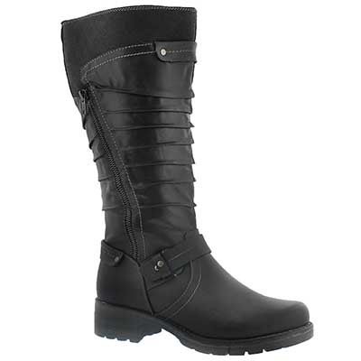 SoftMoc Women's DOMINIQUE black tall riding boot - Wide