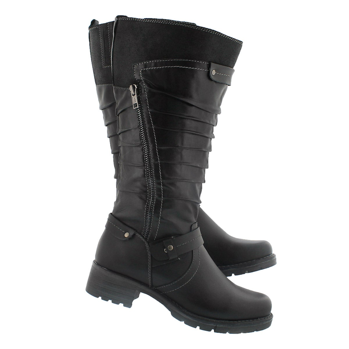 Lds Dominique blck tall riding boot-wide