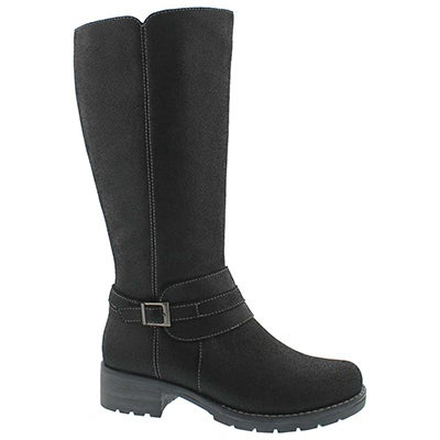 Lds Dominique 2 black tall riding boot