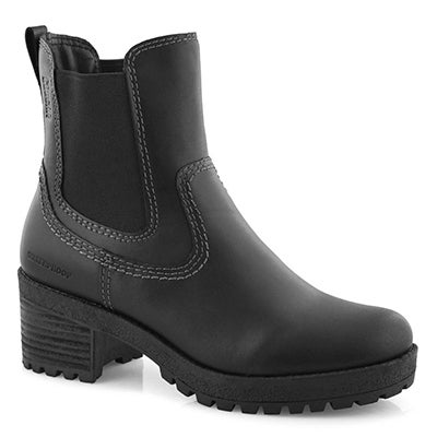Lds Donna blk wtpf chelsea boot