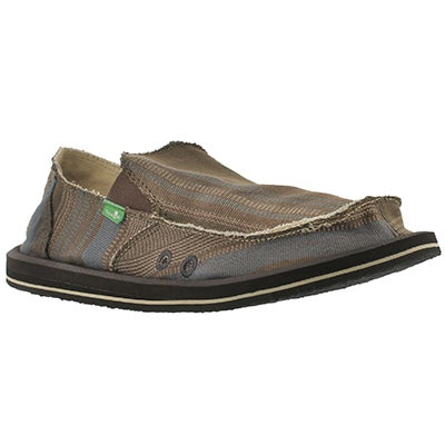Mns Donny blue multi slip on shoe