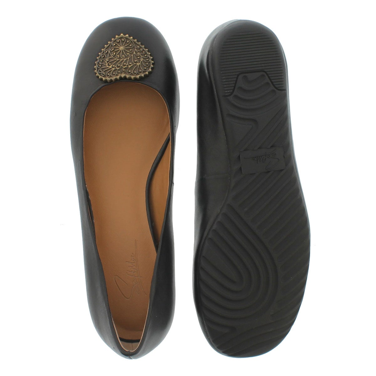 Ballerines Doris noir, fem - Large