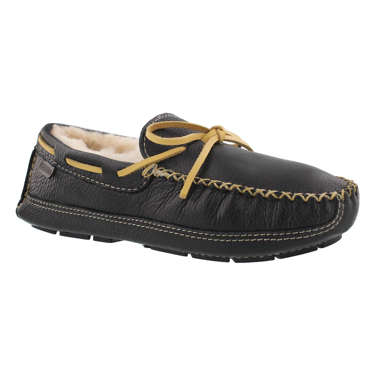 Mns Doyle black leather moccasin
