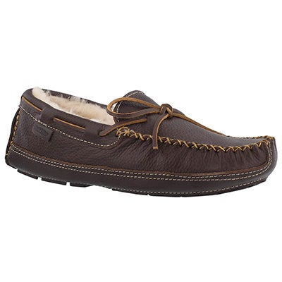Mns Doyle brown leather moccasin