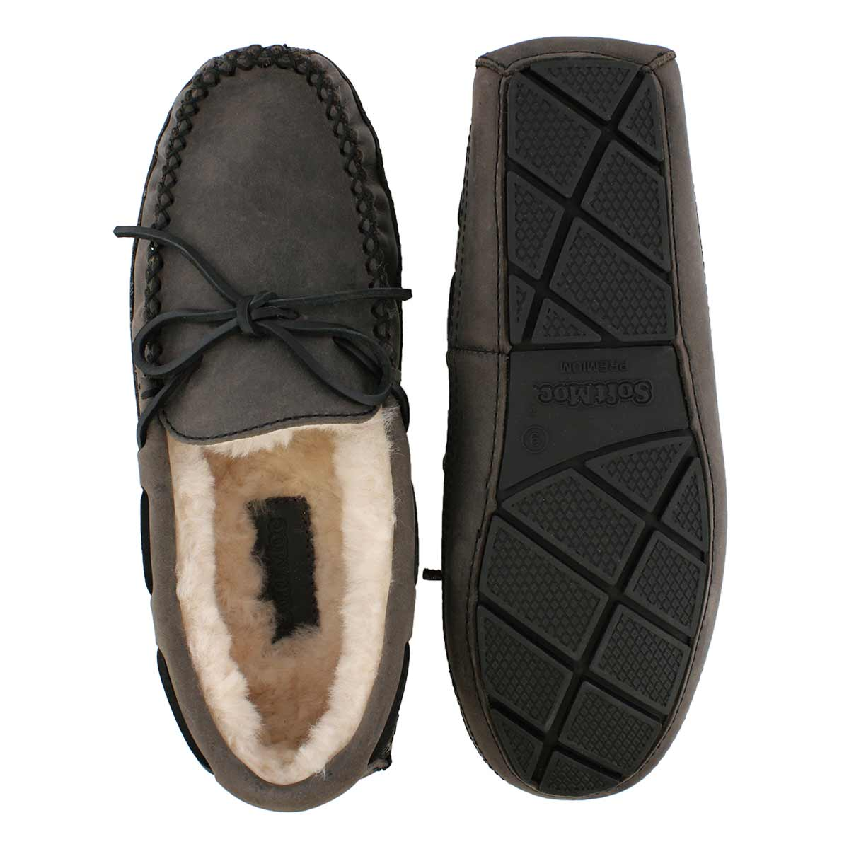 Mns Doyle char crzyhrse leather moccasin