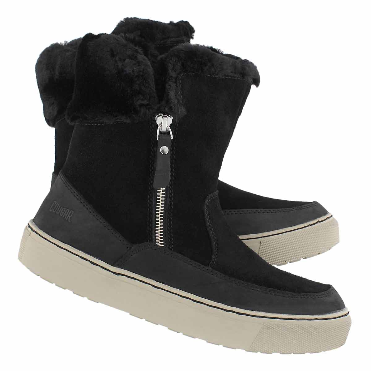 Lds Dresden blk wp side zip winter boot