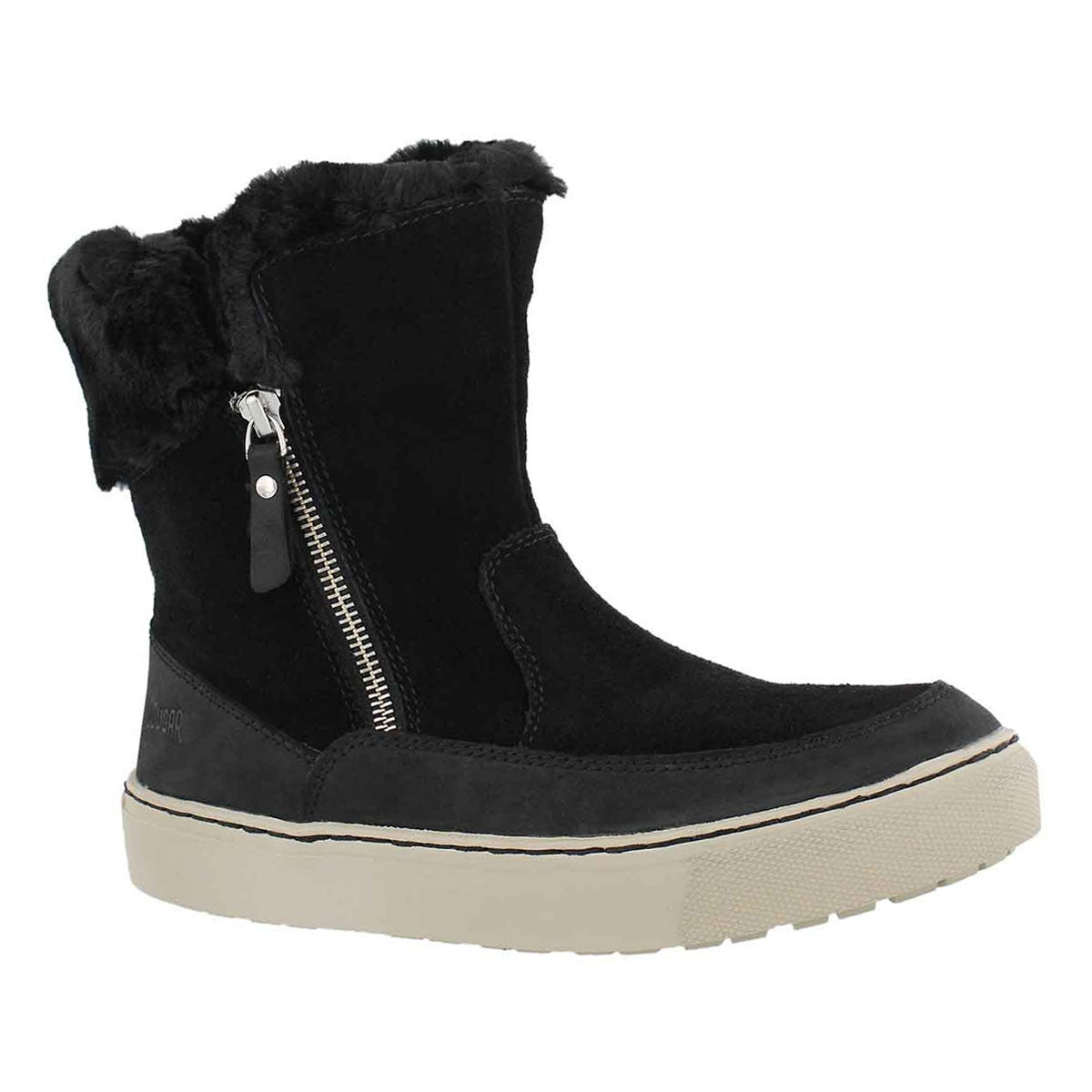 Women's DRESDEN blk wtp side zip winter boots