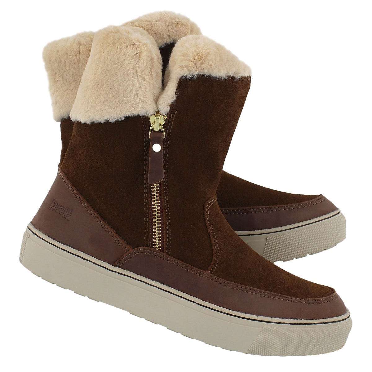 Lds Dresden brn wp side zip winter boot