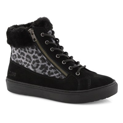 Lds Dublin bk leo wtp lace/zip wntr boot