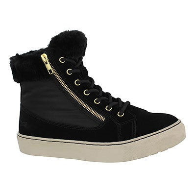 Lds Dublin blk wtpf lace/zip winter boot