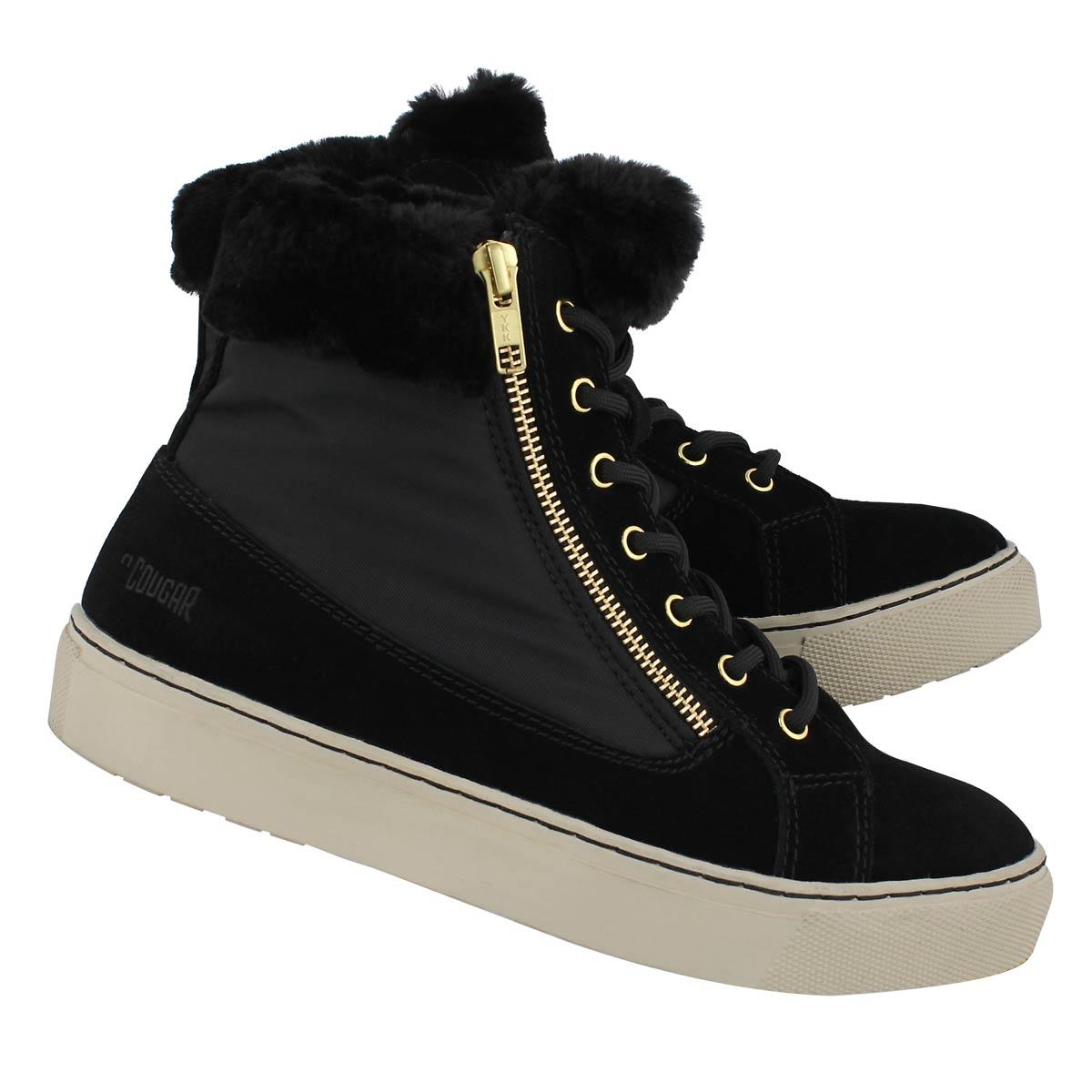 Lds Dublin blk wtpf lace/zip winter boot