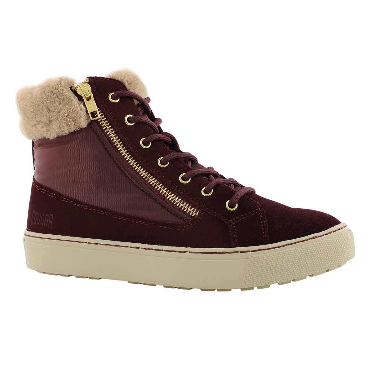 Lds Dublin wne wtpf lace/zip wntr boot