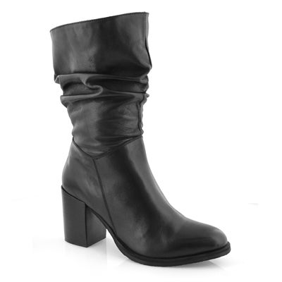 Lds Duchess black ankle boot