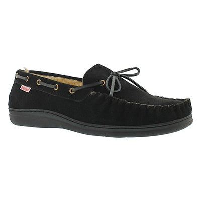SoftMoc Men's DUKE black lined suede moccasins