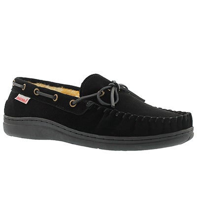 SoftMoc Men's DUKE II black lined suede moccasins