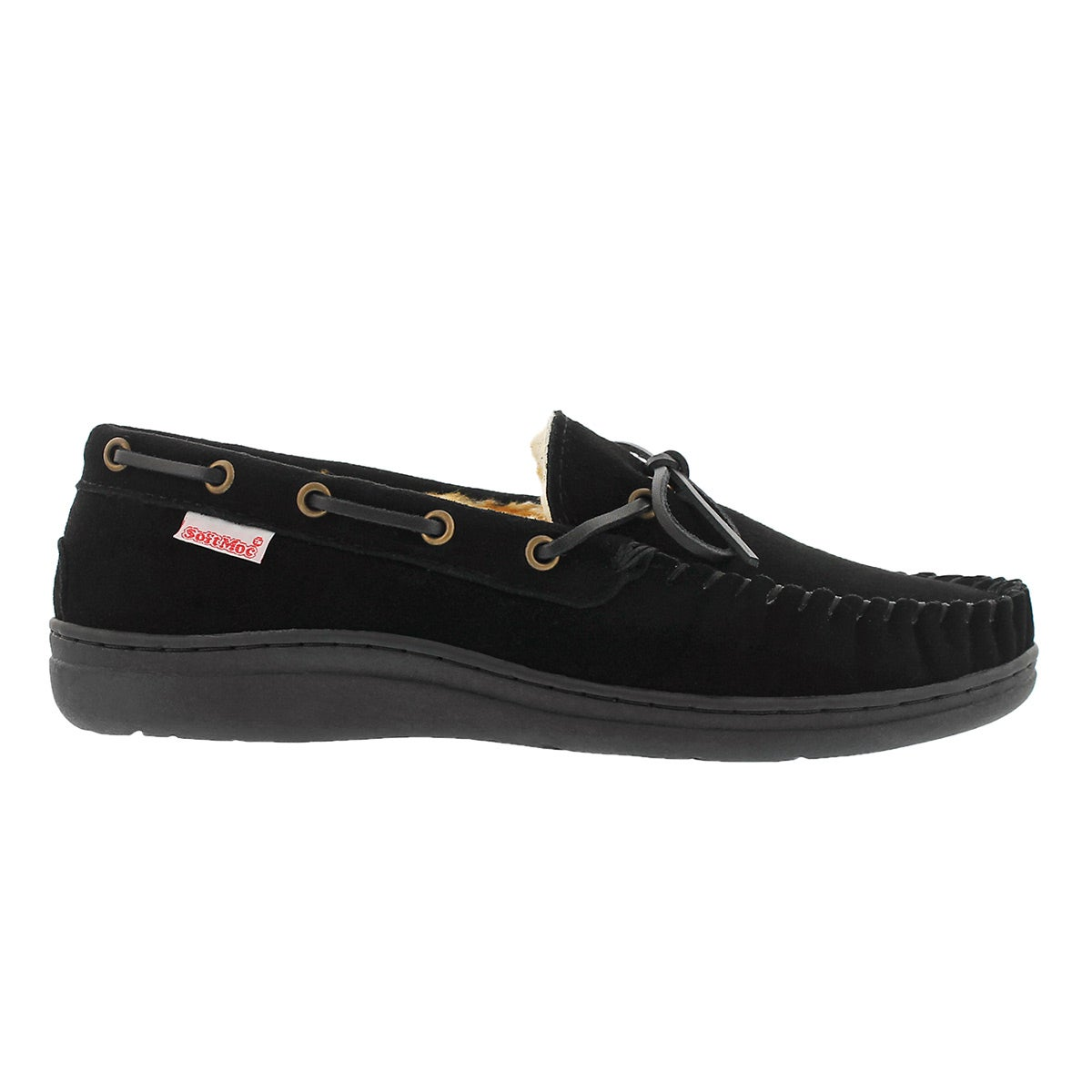 Mns Duke II black lined suede mocc