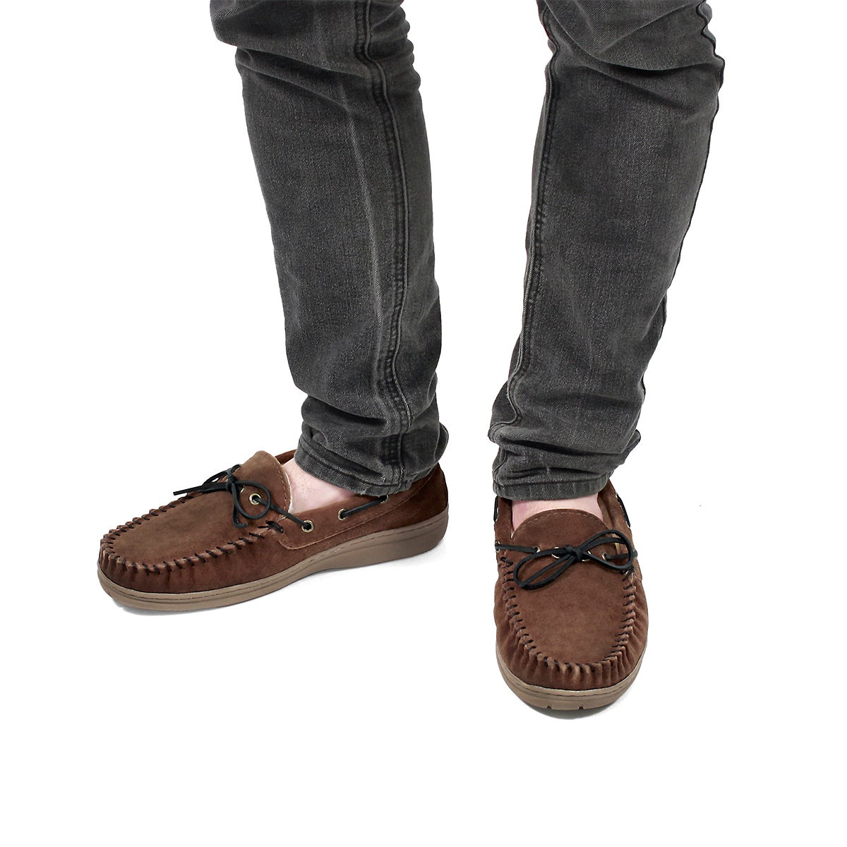 Mns Duke II spice lined suede mocc