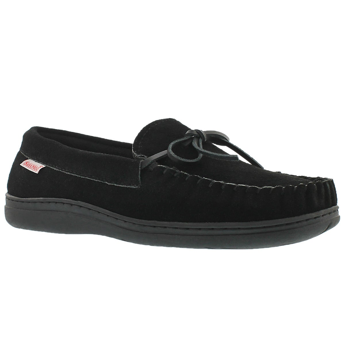 Men's DUSK black suede moccasins