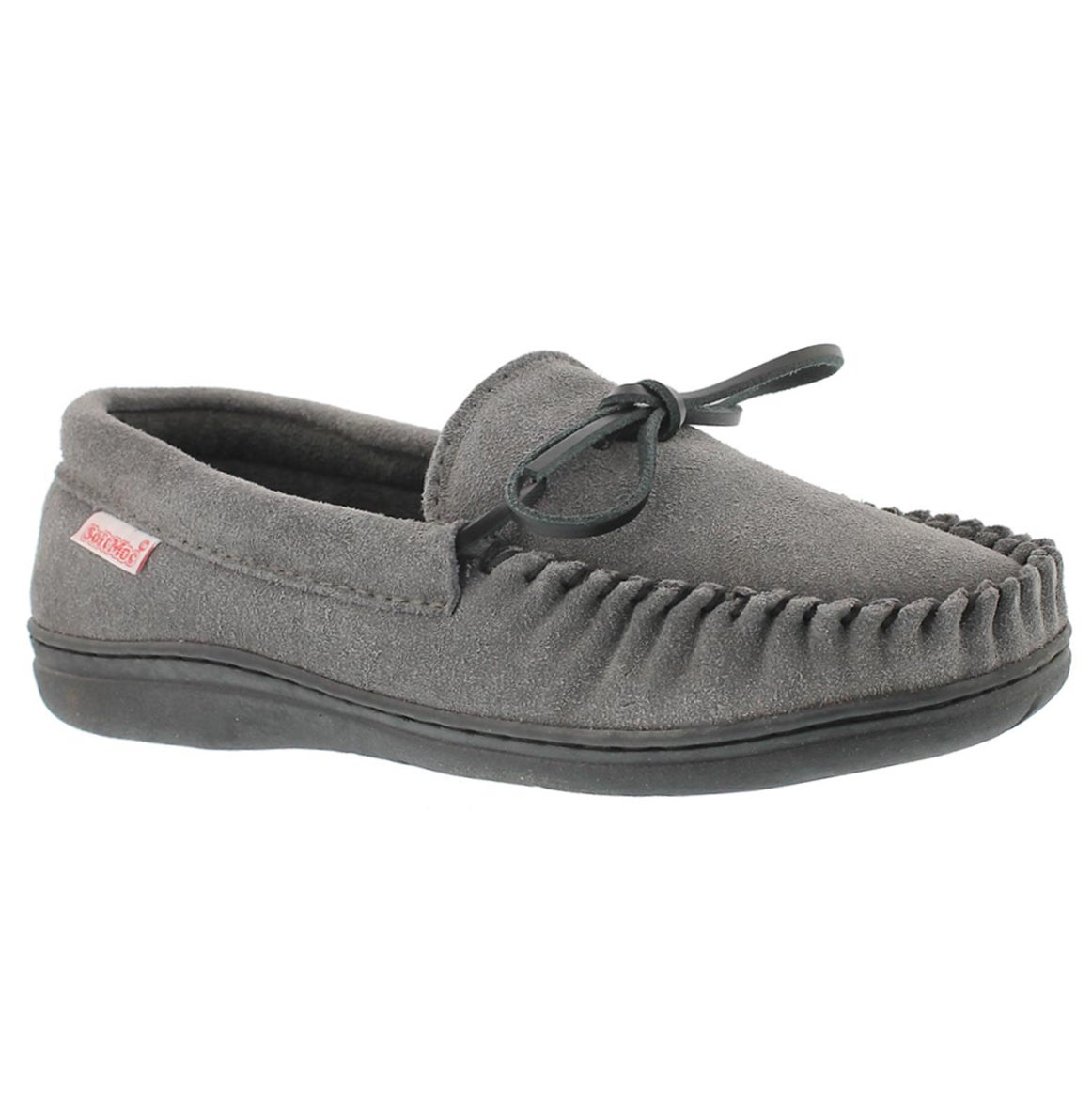 Men's DUSK grey suede moccasins