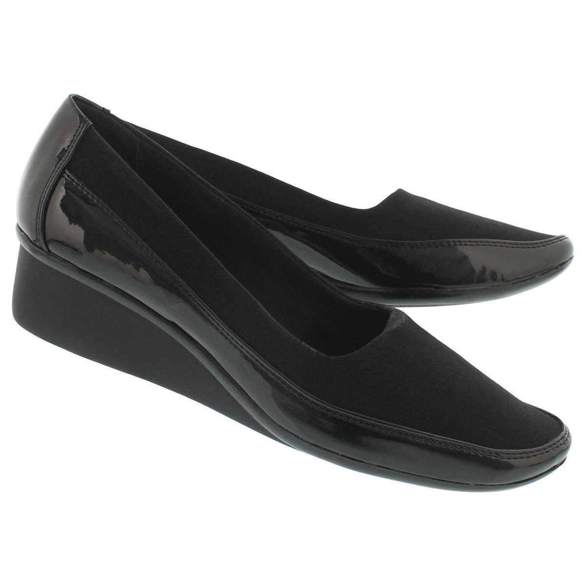 Chaussure à talon comp. Dusti, noir, fem