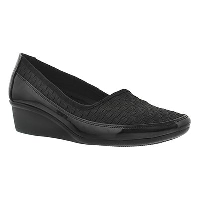 Lds Dusti 2 blk slip on casual wedge