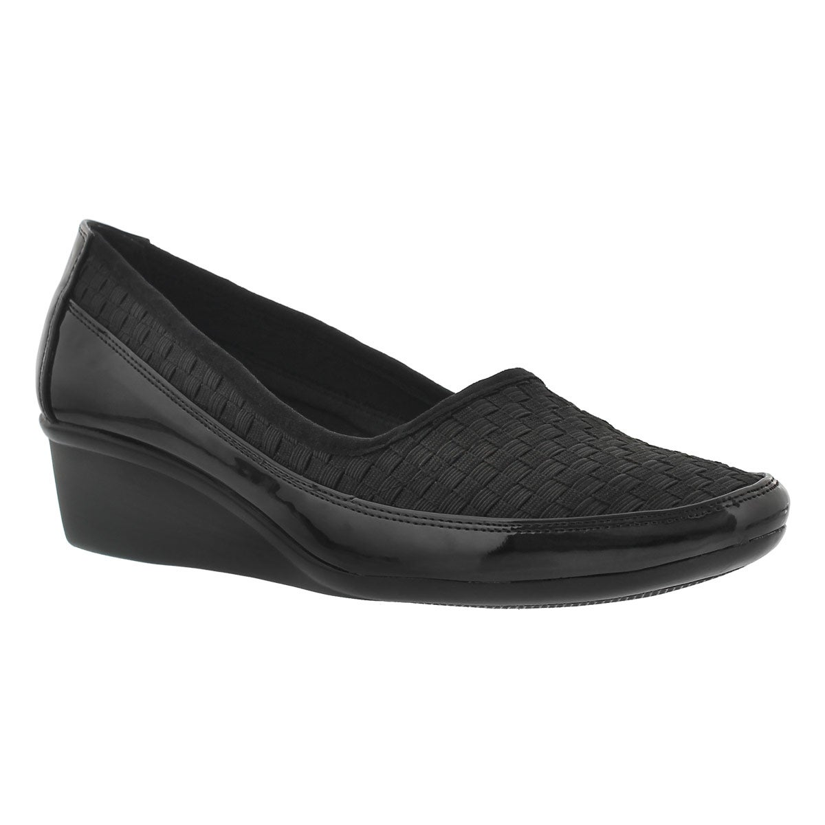 Women's DUSTI 2 black slip on casual wedges