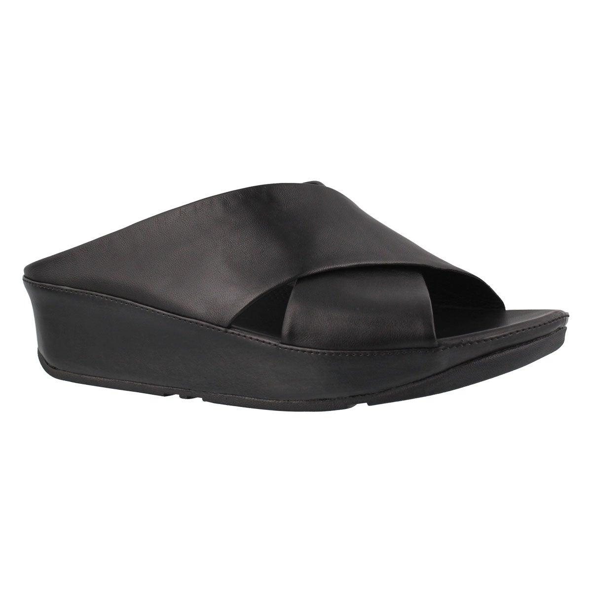 Women's KYS black slide sandal