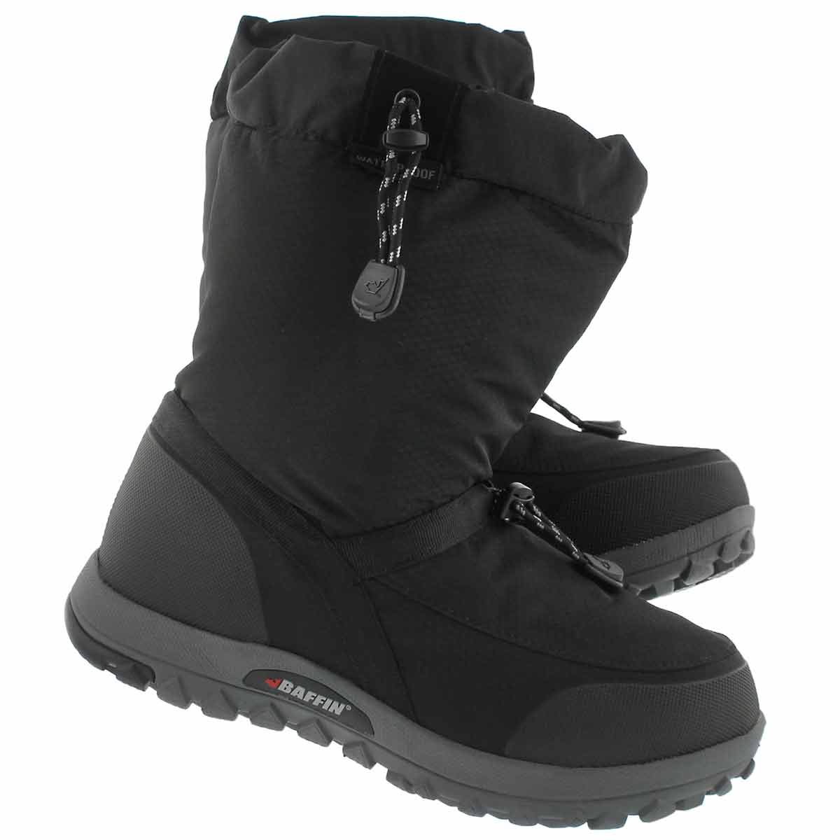 Lds Ease black wtpf pull on winter boot