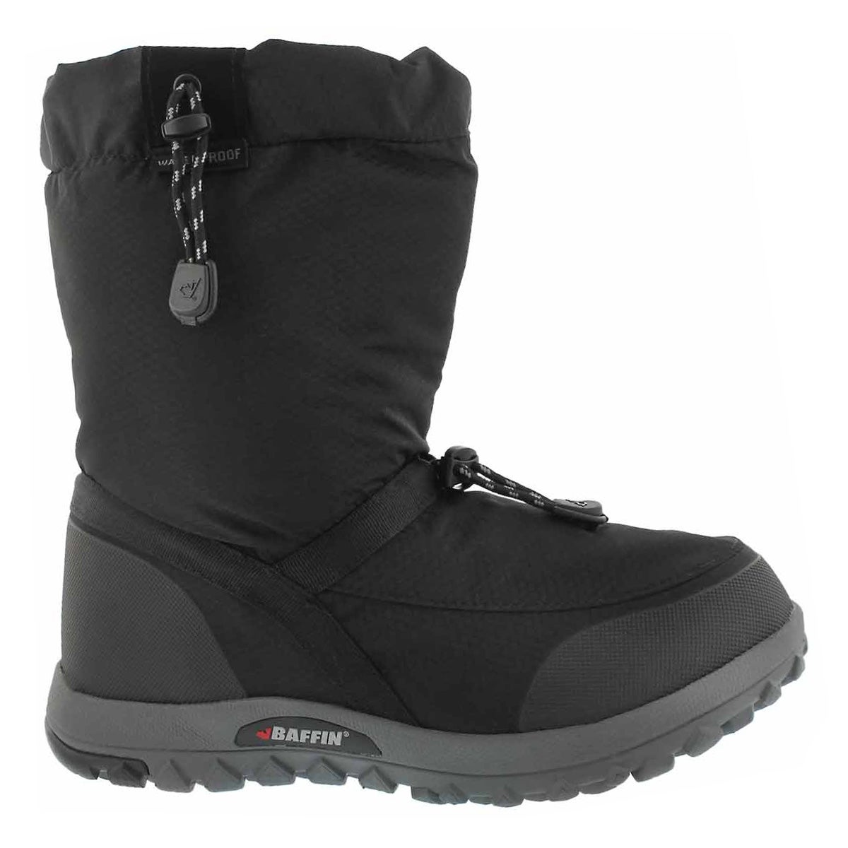 Women's EASE black waterproof pull on winter boots