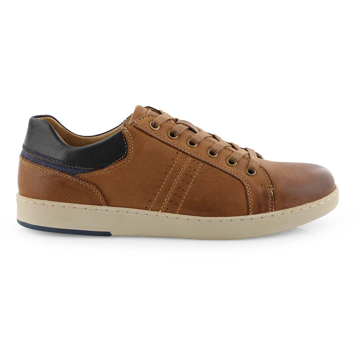 Mns Ebbing dk tan lace up casual sneaker