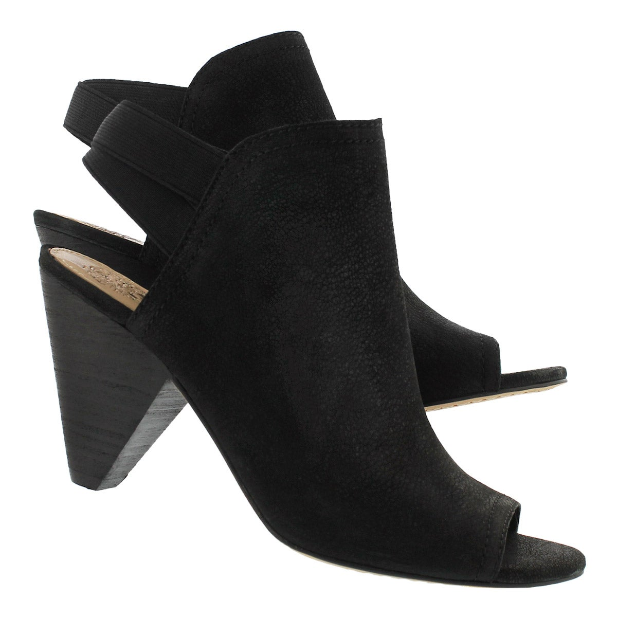 Lds Edora black peep toe dress sandal