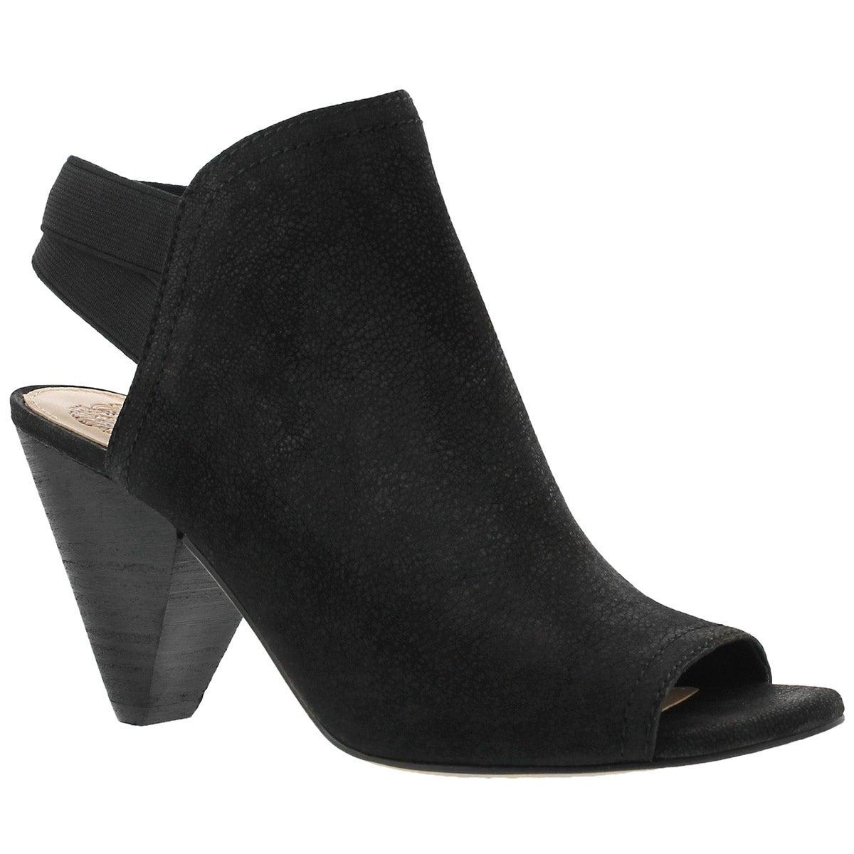 Womne's EDORA black peep toe dress sandals