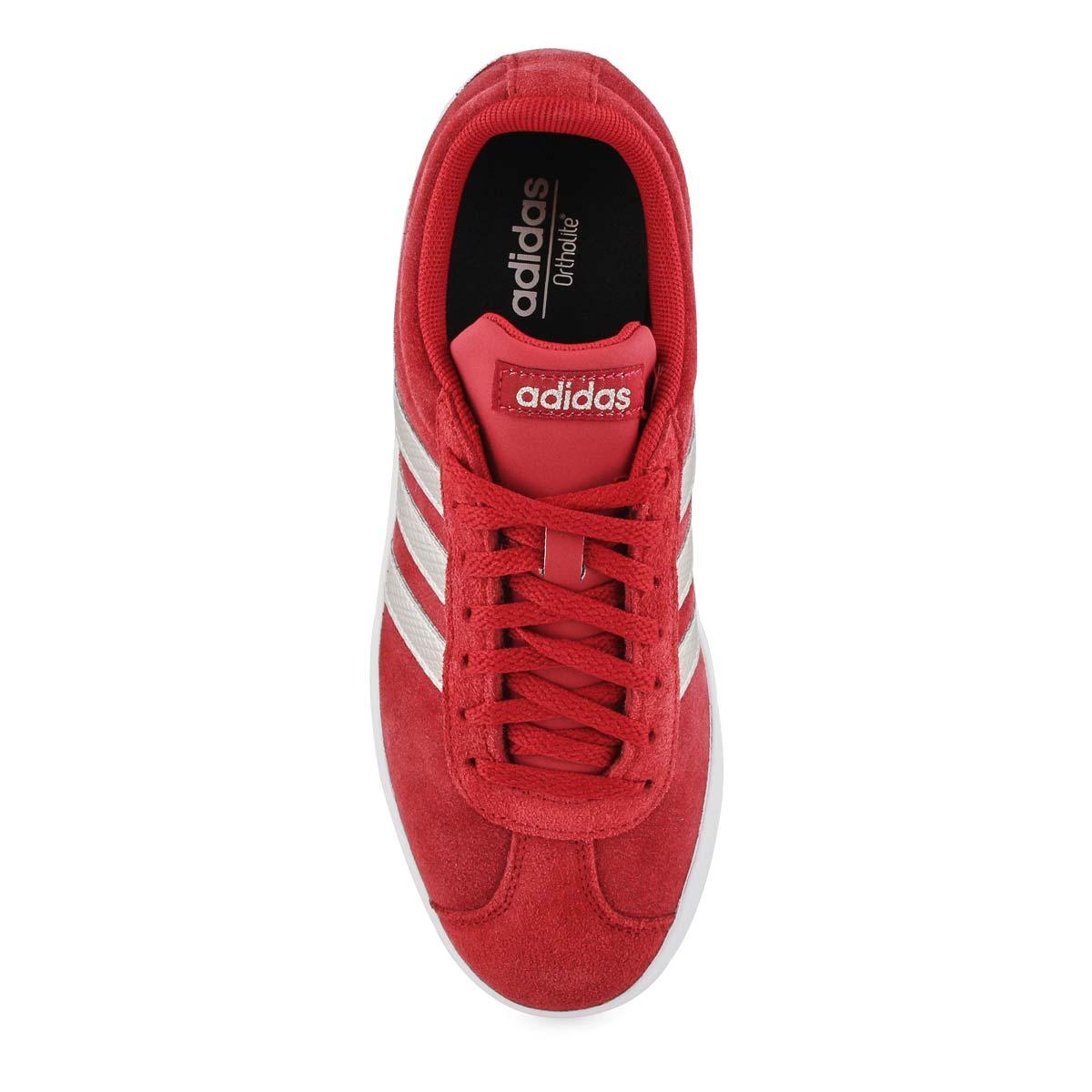 Lds VL Court 2.0 maroon/wht sneaker