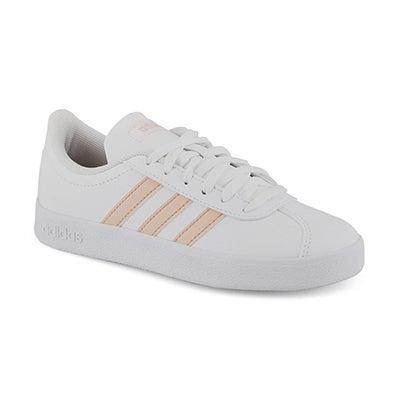 Grls VL Court 2.0 wht/pnk sneakers