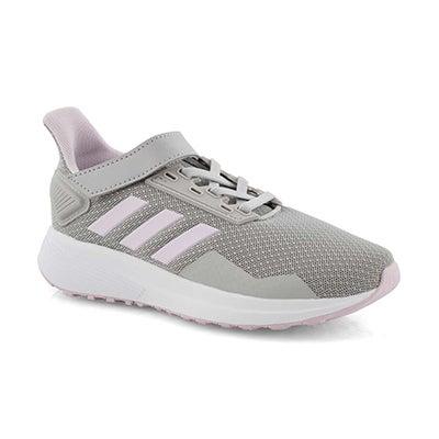 Grls Duramo 9 C grey/pink runners