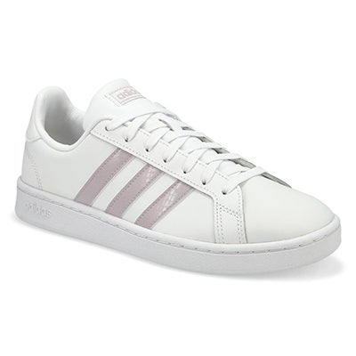 Lds Grand Court wht/mauve sneaker