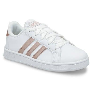 Grls Grand Court K wht/copper sneaker