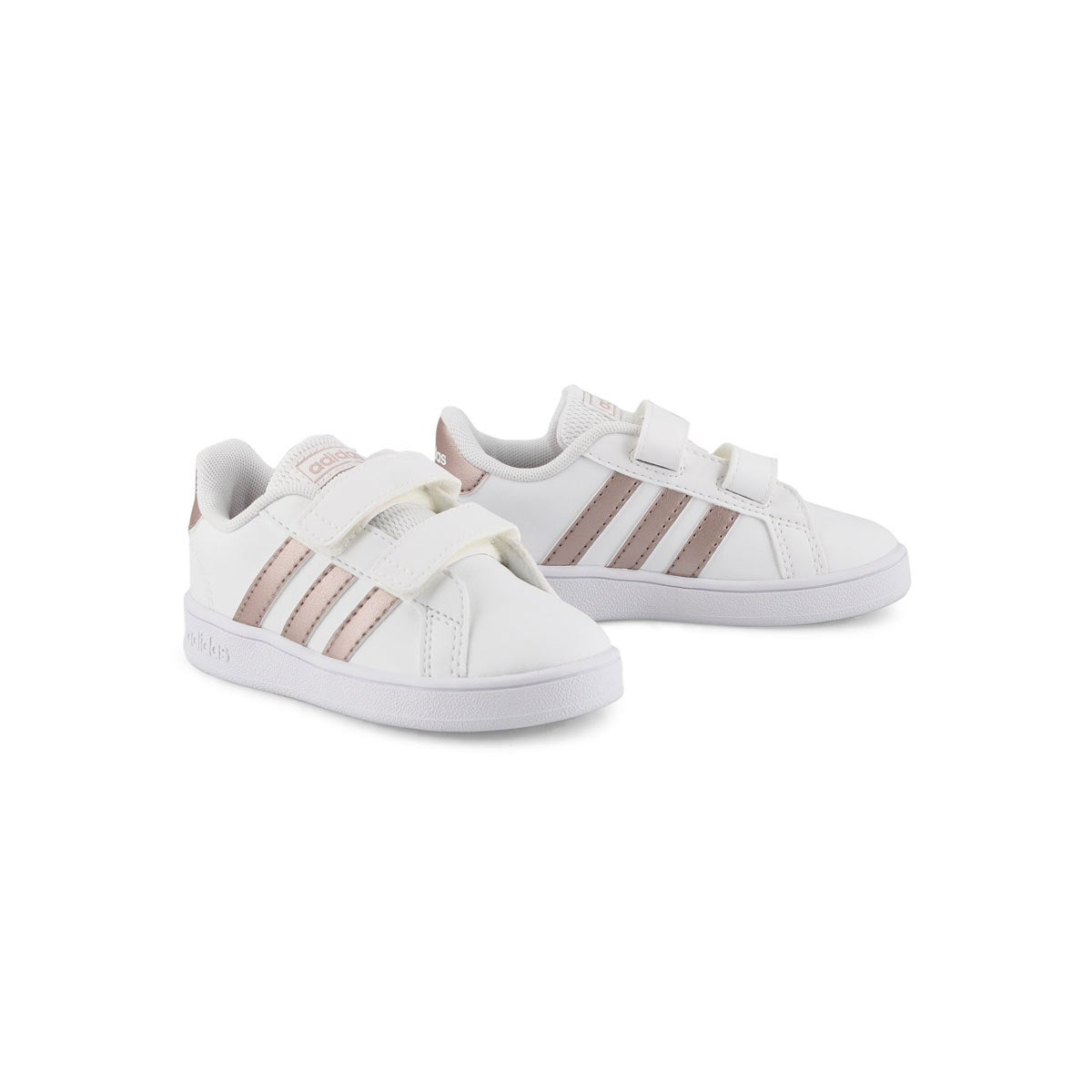 Toddlers' GRAND COURT white/copper sneakers