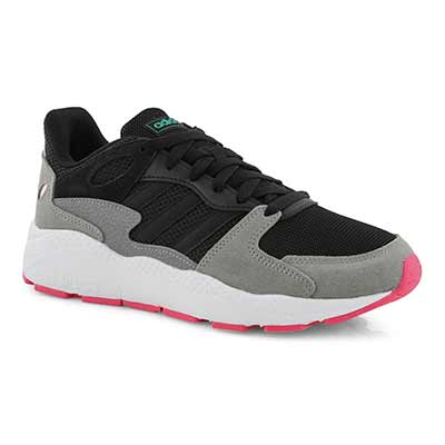 Lds Chaos black/pink lace up sneaker