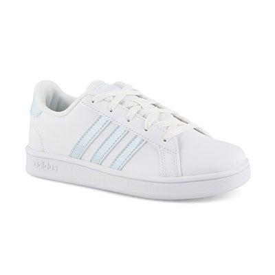 Grls Grand Court K wht/sky sneaker