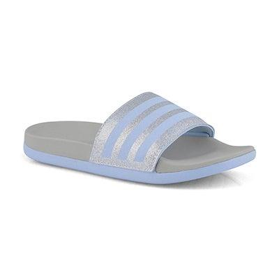 Chlds Adilette Comfort K blue/grey slide