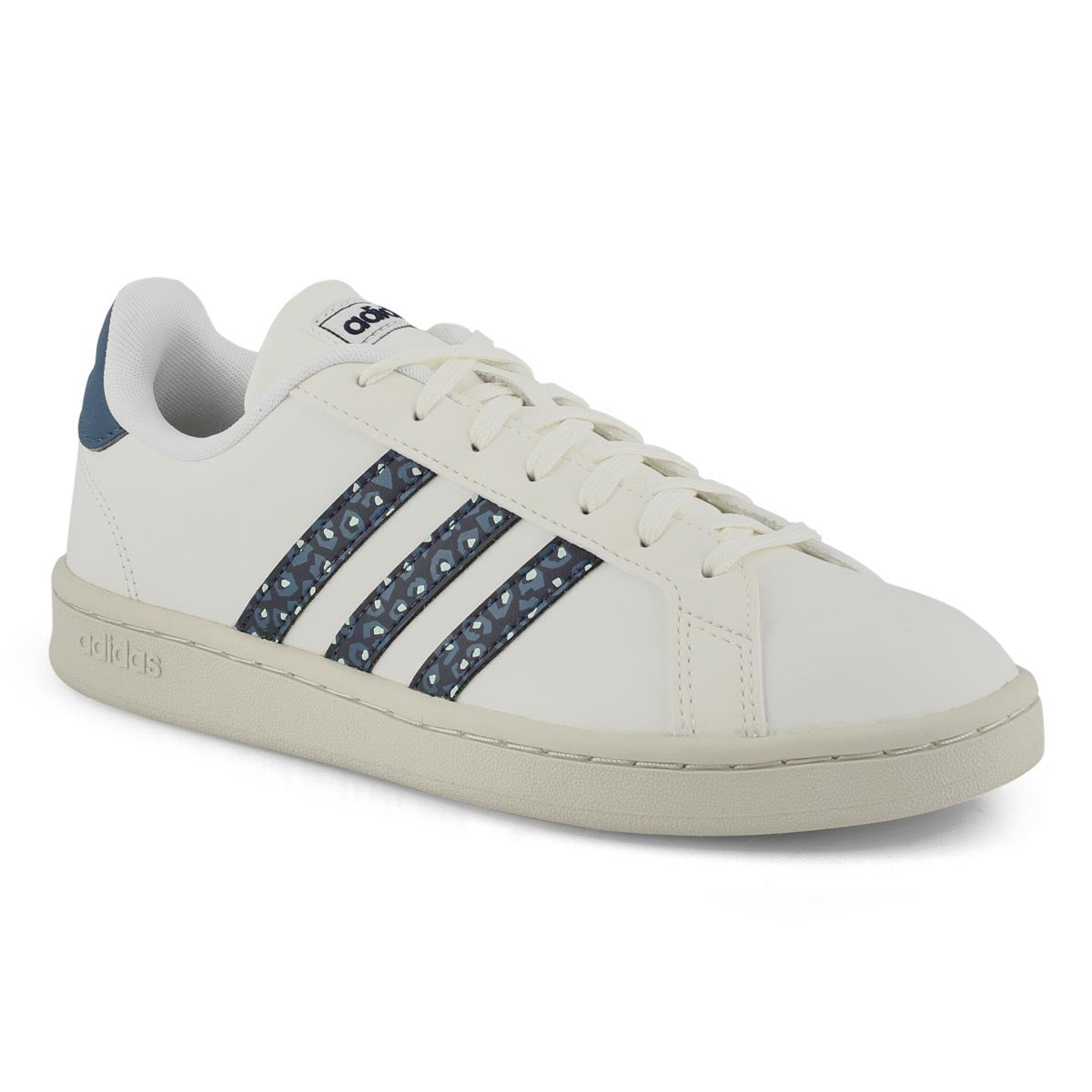 Lds Grand Court wht/gry/ink sneaker