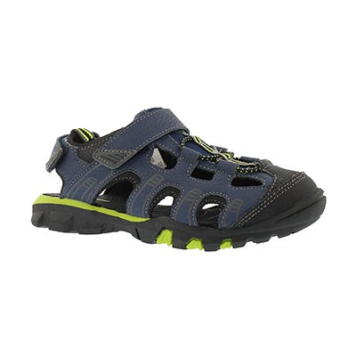 SoftMoc Boys' ELLIOT 2 navy closed toe sandals