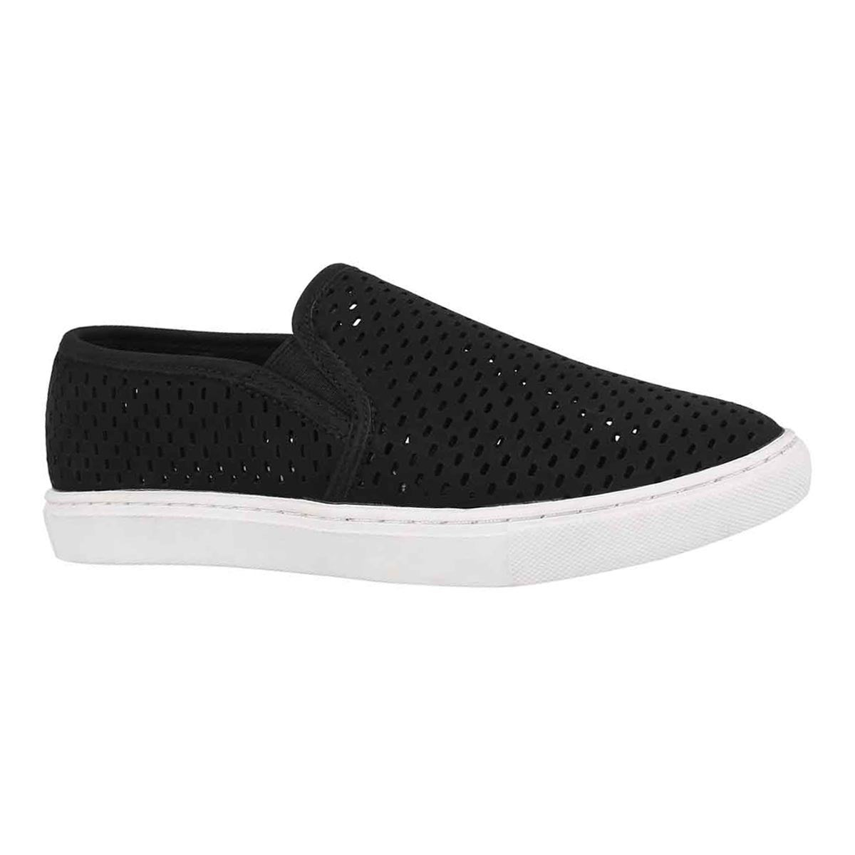 Lds Elouise black casual slip on shoe