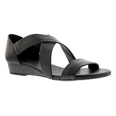 SoftMoc Women's EMILIA black leather sandals