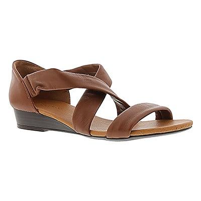 SoftMoc Women's EMILIA tan leather sandals