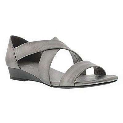 SoftMoc Women's EMILIA pewter leather sandals