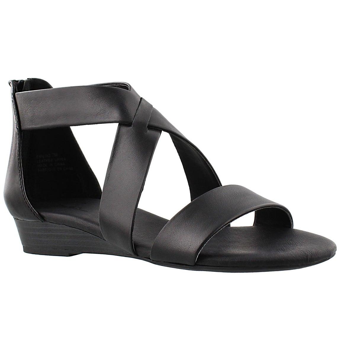 Lds Emilia 2 blk mem. foam sandal