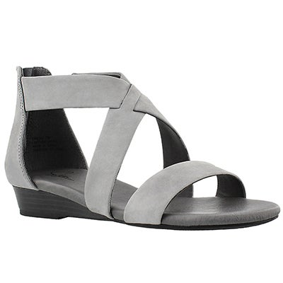 SoftMoc Women's EMILIA2 grey memory foam sandals
