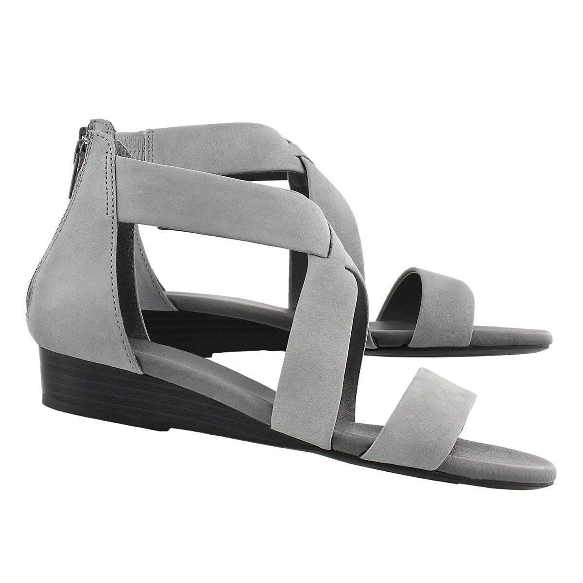 Sandale mousse visc. Emilia 2, gris, fem